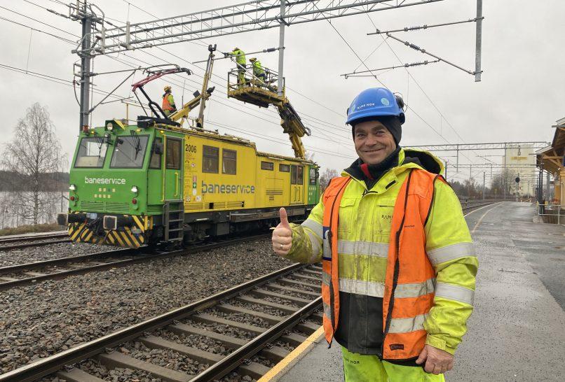 Kongsvingerbanen har fått ny kontaktledning